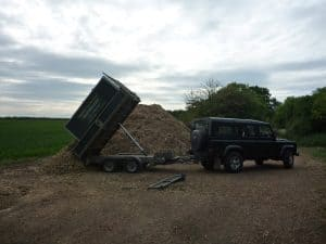 Woodchip storage site